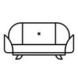 room sofa icon outline style vector image vector image
