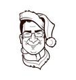 santa cartoon character vector image vector image