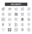 security line icons signs set linear vector image vector image