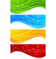set banners with circle vector image vector image