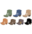 Set of boots vector image