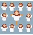 Set of Jesus flat icons vector image vector image