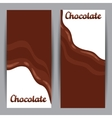 Set of vertical banners with chocolate flow vector image vector image