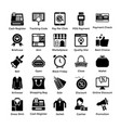 shopping icons set 2 vector image vector image