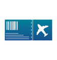 silhouette airplane ticket travel to vacation vector image vector image
