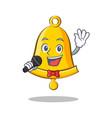 singing school bell character cartoon