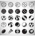 sport ball icons set on white background for vector image