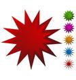 starburst badge shape element empty
