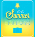 summer holidays typographic design vector image vector image