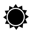sun icon - iconic design vector image