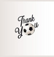 thank you football decoration vector image vector image
