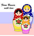 Traditional russian matryoschka dolls vector image vector image