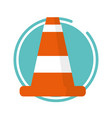traffic construction cone vector image vector image