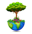 tree on the earth vector image
