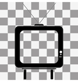 TV icon picture on transparency vector image