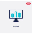 two color ar graph icon from general-1 concept vector image vector image