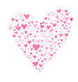 valentine day card design with hearts vector image vector image