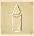 Vintage postcard with a picture candles vector image vector image