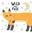 wild and free with a fox vector image