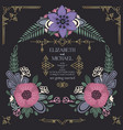 wild flowers wedding invitation design vector image vector image