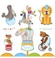Circus animals perform tricks vector image