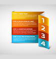 four steps vertical template vector image
