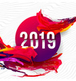 2019 glitched background design template for vector image vector image