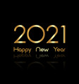 2021 happy new year with gold texture luxury card vector image
