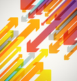 Abstract background of different color arrows vector image vector image