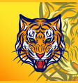 Angry tiger head design