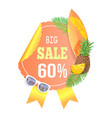 big sale season promotion banner card vector image