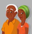 black elderly couple vector image vector image