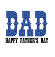 blue bandana dad fathers day vector image vector image