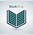 book shop logo isolated on modern background can vector image vector image