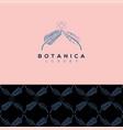 botanics logo vector image