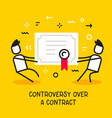 business of people pulling contract in different vector image
