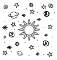 Cartoon space icons vector image vector image