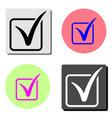 check mark flat icon vector image