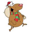 Christmas Santa Bear vector image vector image
