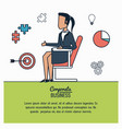 colorful infographic of corporate business with vector image vector image