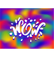 concept of wow phrase word vector image