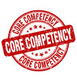 core competency red grunge stamp vector image vector image