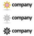 corporate logo design template vector image vector image