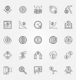 cryptocurrency icons set crypto currency vector image vector image