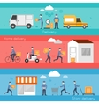 Delivery banner set vector image vector image