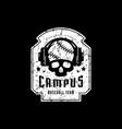 emblem college baseball team vector image