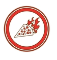 fast food emblem icon image vector image vector image