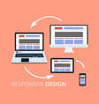flat design concept icons for web and mobile vector image vector image