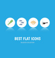 flat icon nature set of tuna fish octopus and vector image vector image