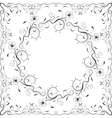Floral frame black and white vector image vector image